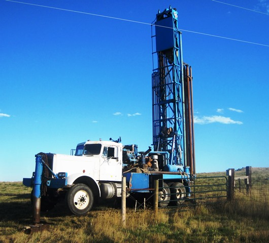 Garys Drilling Inc.  Water Drilling Truck, Owned and operated by Gary Mayes
